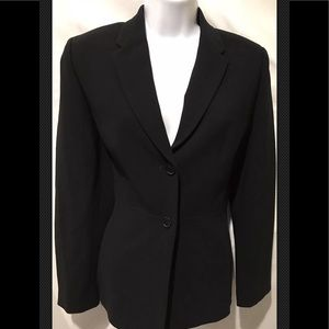 ANN TAYLOR Career Black Fitted Lined Jacket Blazer